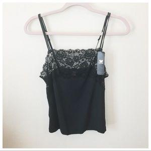 NWT Wacoal | Black Lace Camisole Large
